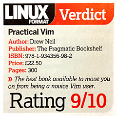 The best book available to move you on from being a novice Vim user.